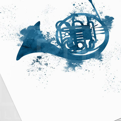 How I Met Your Mother Print - Blue French Horn