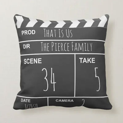 Customized Filmmaker Clapboard Pillow