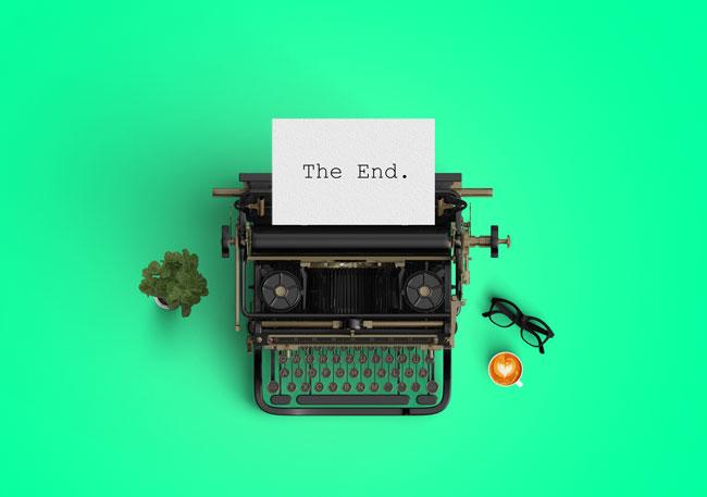 photo of a typewriter