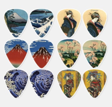 Japan Themed Guitar Picks