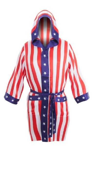 Boxing American Flag Robe