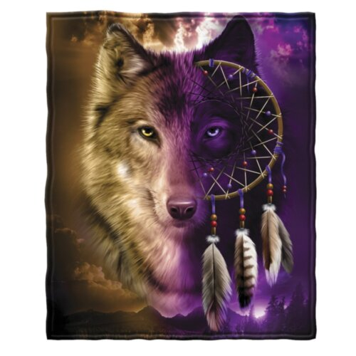Wolf Fleece Blanket