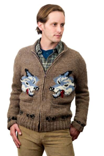 Wolf Design Handmade Sweater